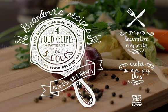Grandma's Recipes Branding Kit — Just like grandma used to make