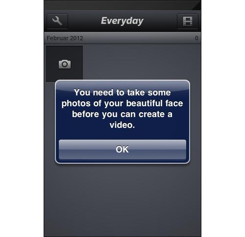 iOS Dialog for Everday app