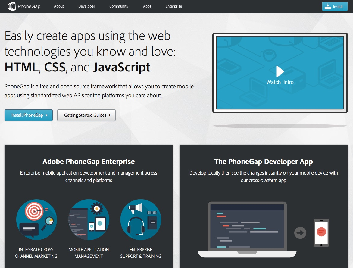 Frameworks like PhoneGap allow you to build native applications with HTML, CSS and Javascript.