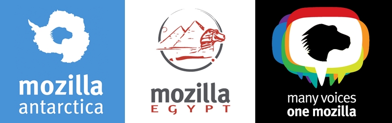Mozilla communities using the dinosaur logo