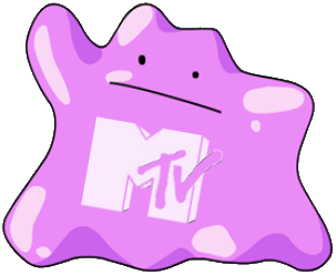 MTV Jello monster logo treatment