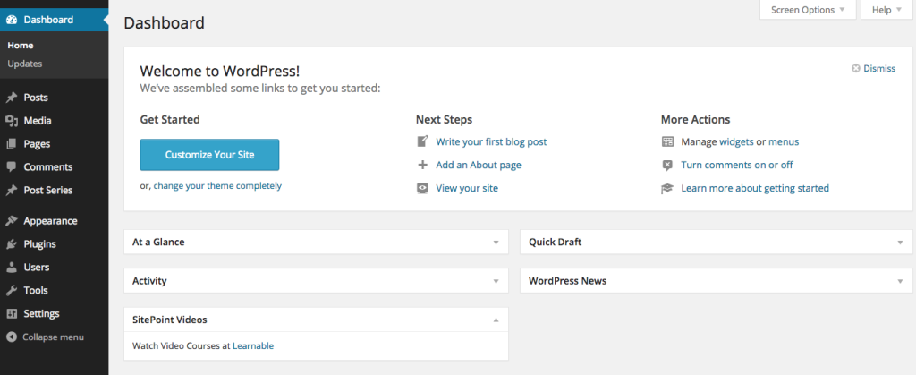 WordPress Dashboard Widget API