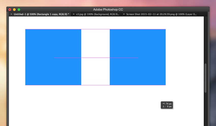 Photoshop's object alignment