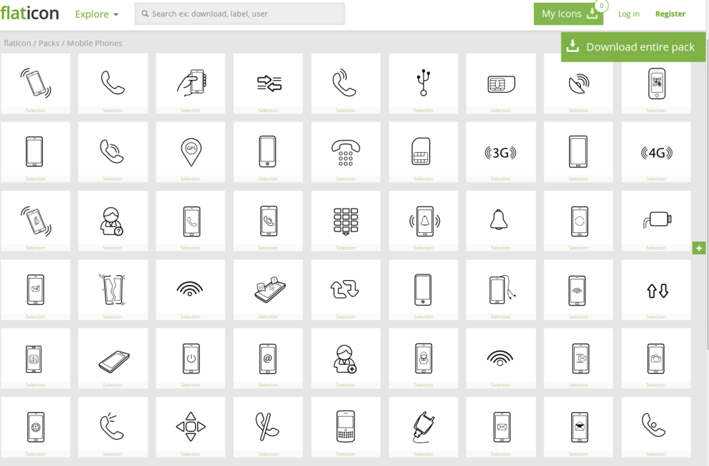 Flat Phone Vector Icons