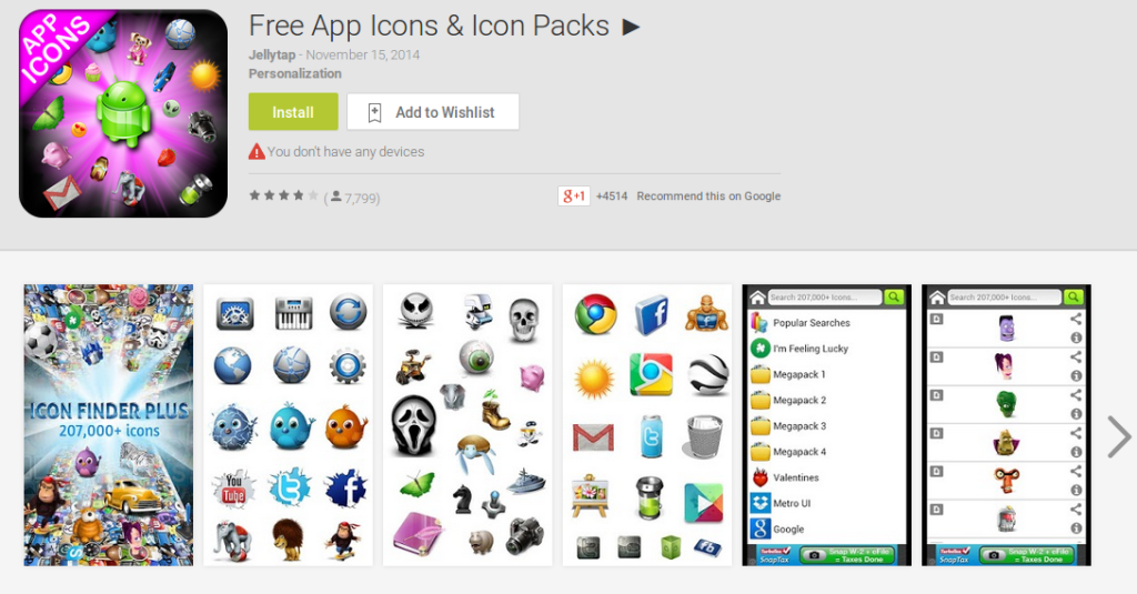 More Free Android Icons