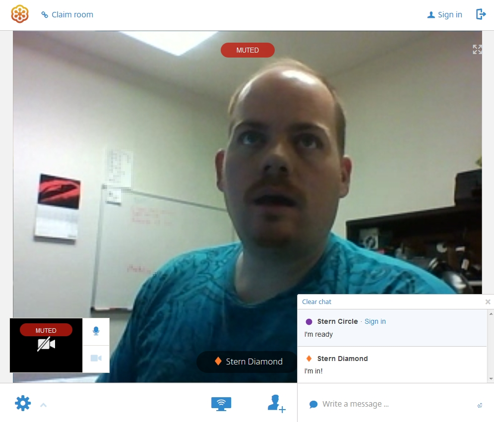 Video chat in GoToMeeting