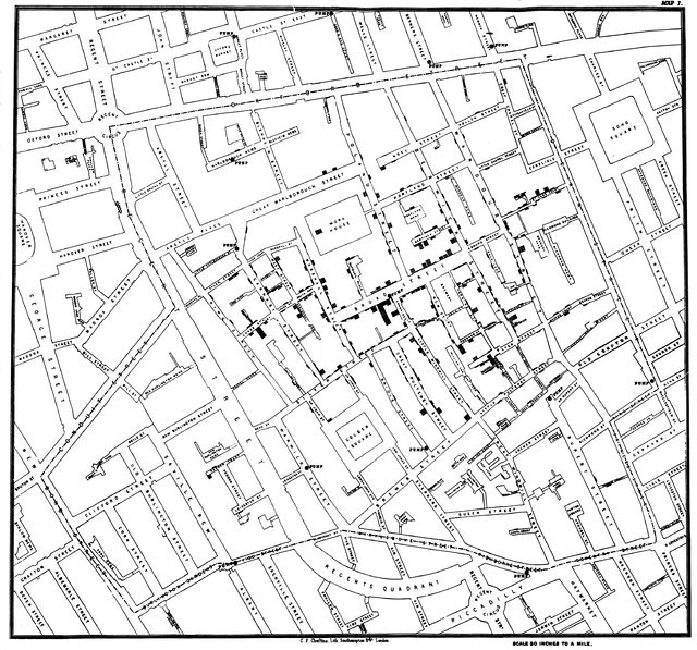 Jon Snow's Cholera Map.