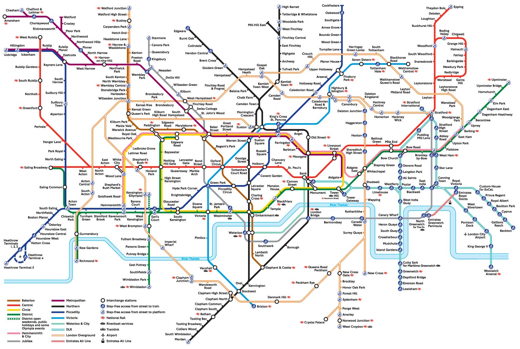 A Modern Tube Map