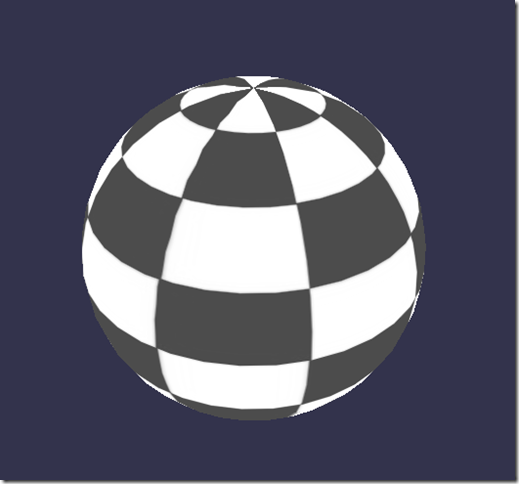 Black and white shader result