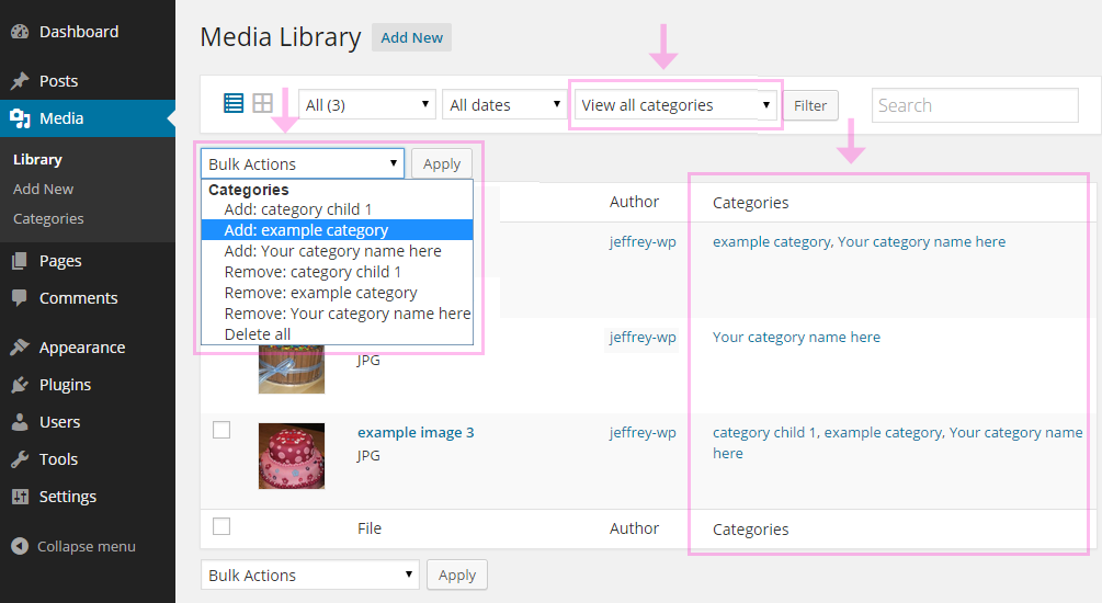 Media Library Categories Plugin