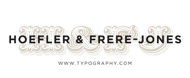 The pre-split logo from Hoefler & Frere-Jones (Now Hoefler & Co.)