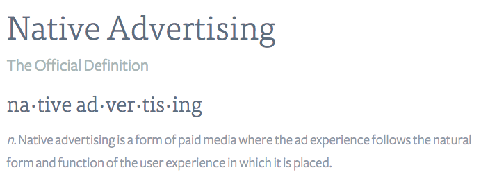 Related keywords suggestions for native advertising for Native agency
