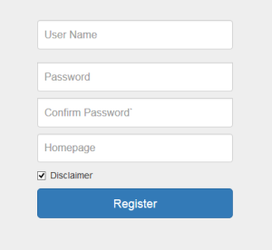 Register screen