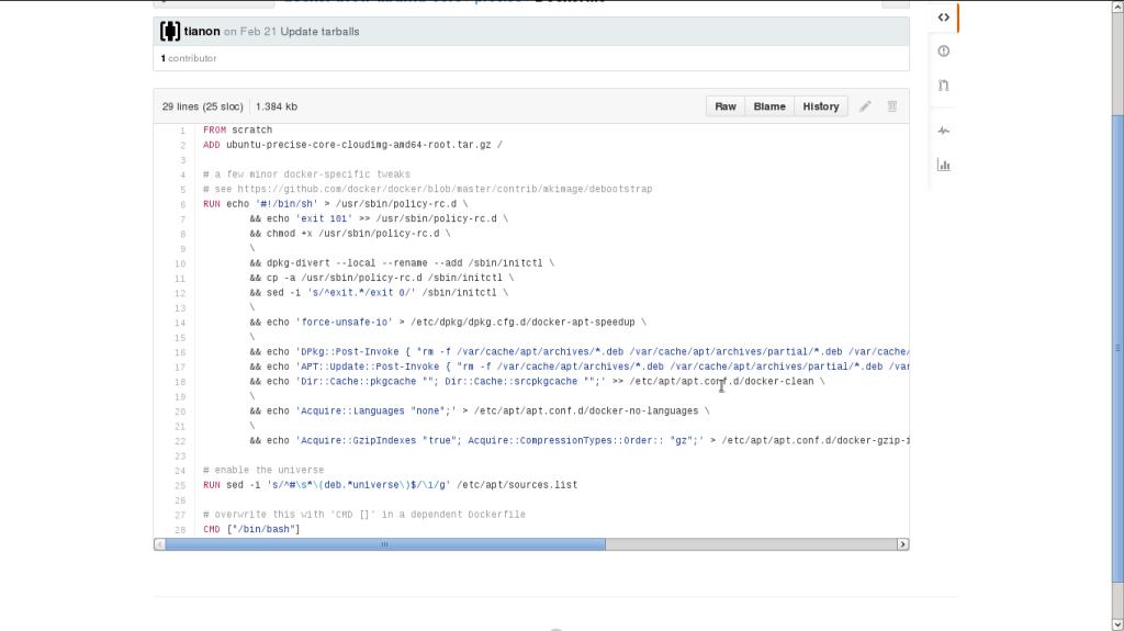 Ubuntu 12.04 Dockerfile