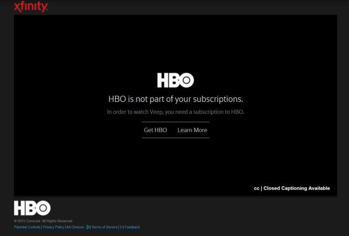 An HBO DRM error