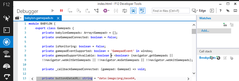 Debugging gamepadjs