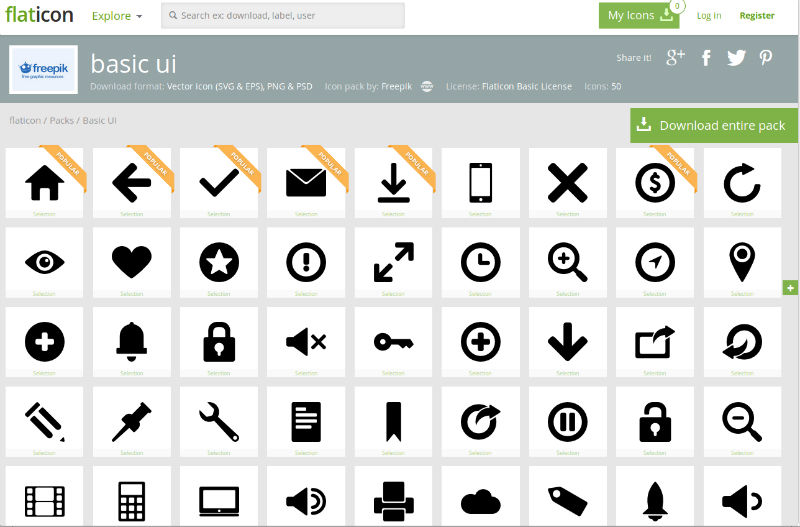 Basic UI Icons