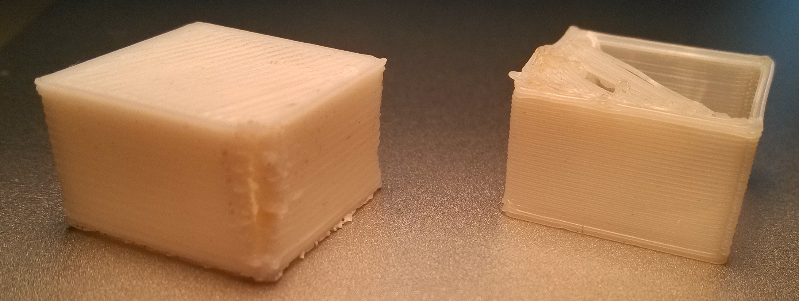 Comparison of calibrated and not calibrated printout