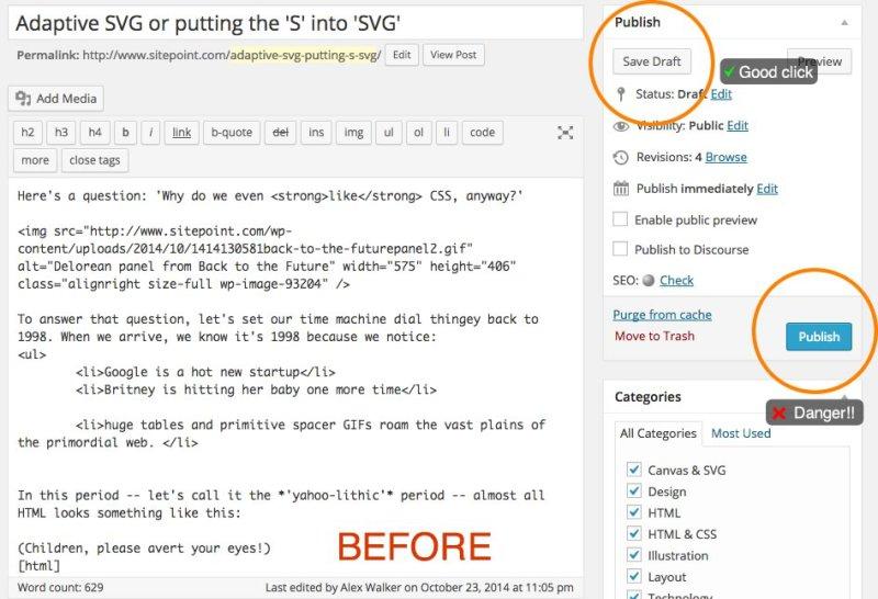 The WordPress admin