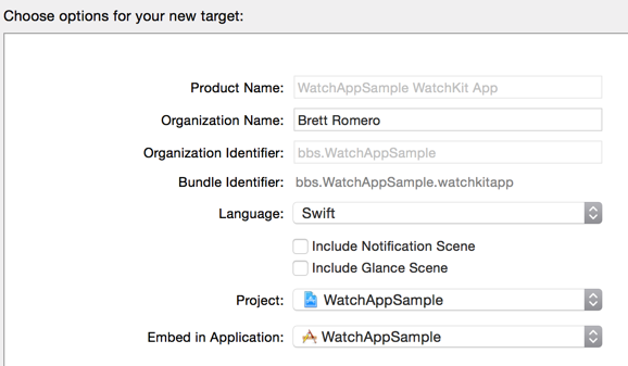 Naming Watch Application