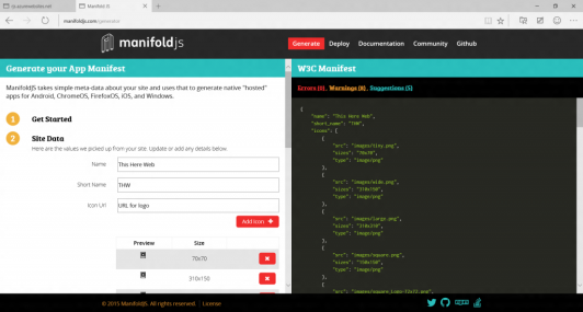 Manifold.js interface