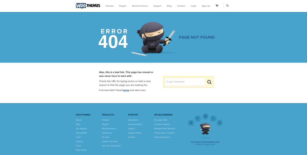WooThemes 404