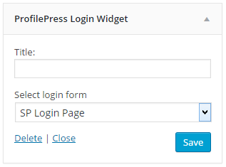 WordPress Login Widget