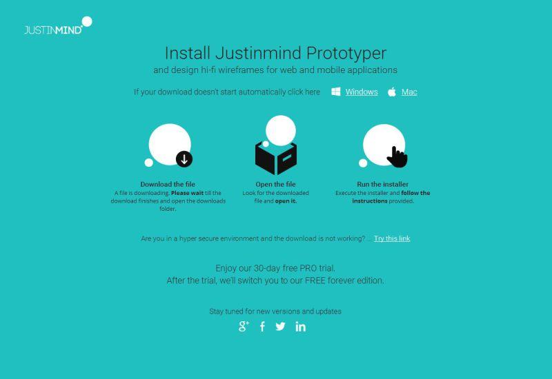 Install Justinmind prototyper