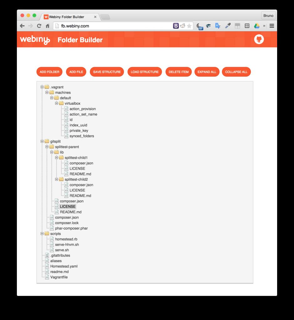 FolderBuilder Displays Desired Output