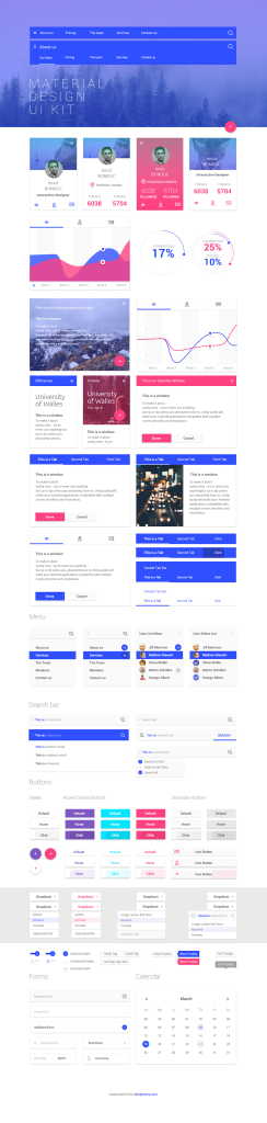 10 free ui templates for android lollipop and ios 8 mobile the this is an outstanding psd ui template this free material design ui kit is a retina ready kit with design elements for almost everything such as menus maxwellsz