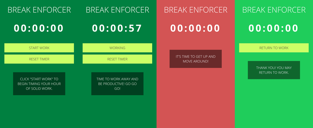 Break Enforcer Running App
