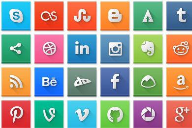 Social - 11 - Square Icons-w800