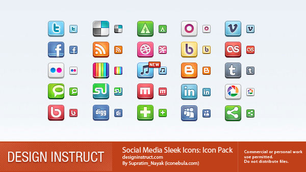 Social - 10 - Sleek Icons-w800