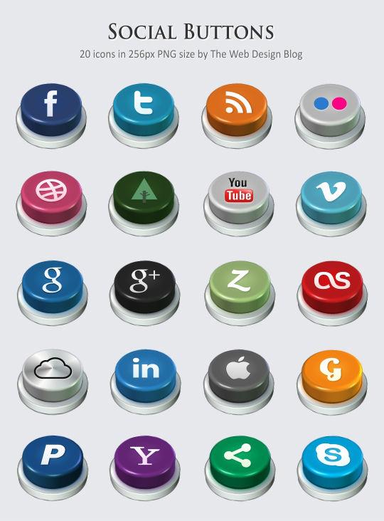Social - 01 - social-buttons