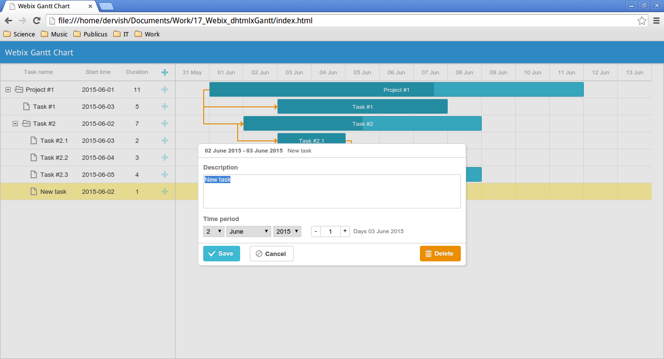 Making your own gantt chart with webix sitepoint adding new subtask nvjuhfo Choice Image