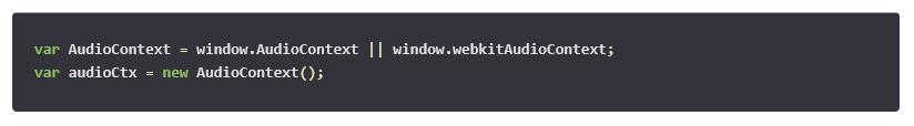 Using the API audioContext