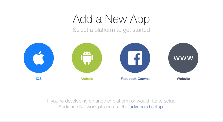 Adding a new App to Facebook