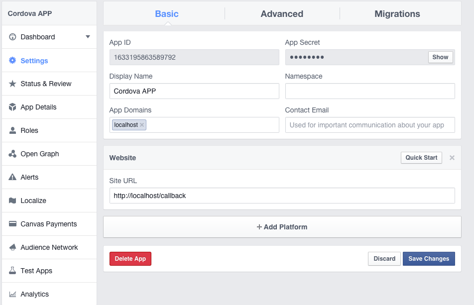 How to Integrate Facebook Login into a Cordova Based App