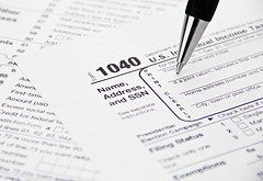 Ken Teegardin: IRS 1040 Tax Form Being Filled Out