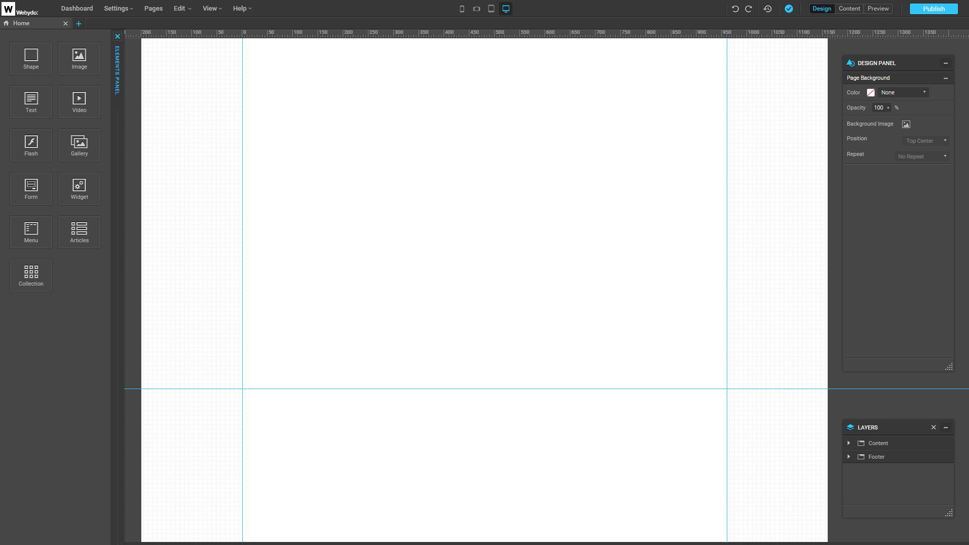 New Webydo Design from Scratch