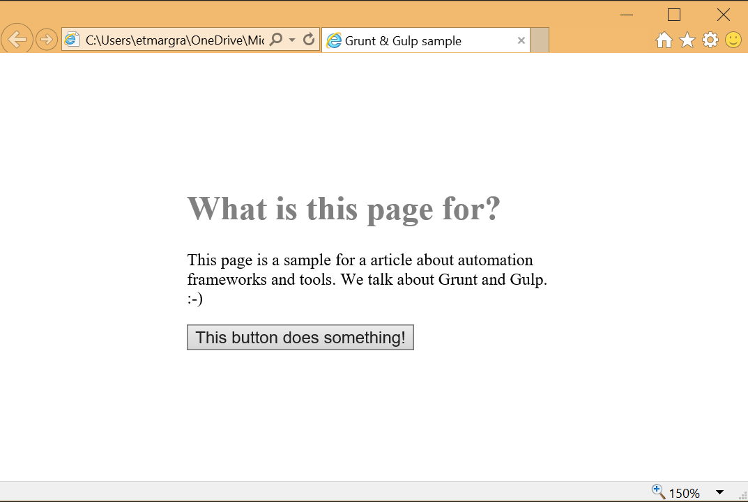 What is this page for?