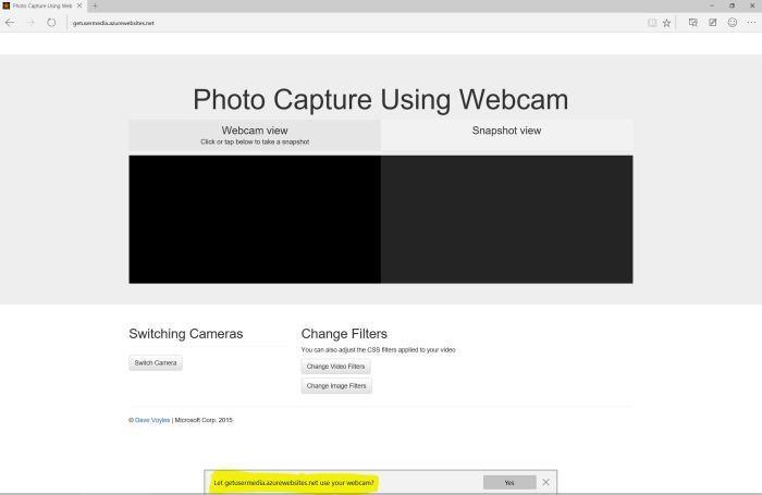 A webcam snapshot view