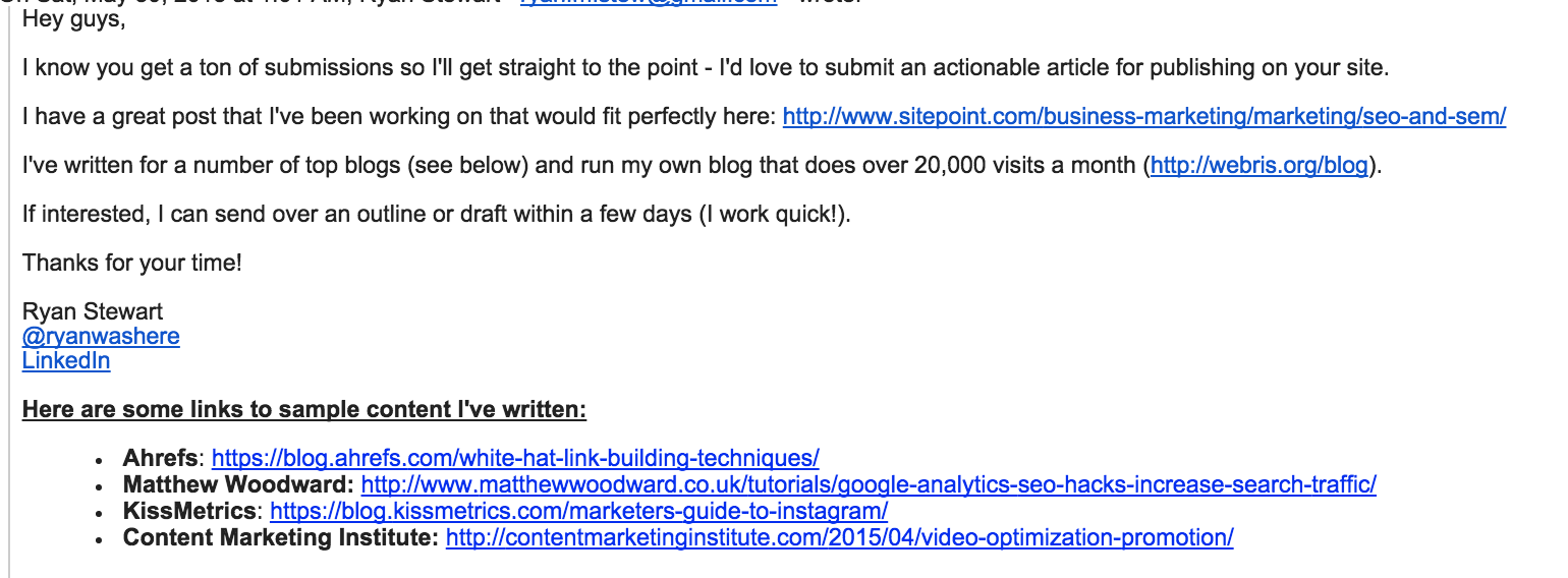 Compose an email to eight month guy.