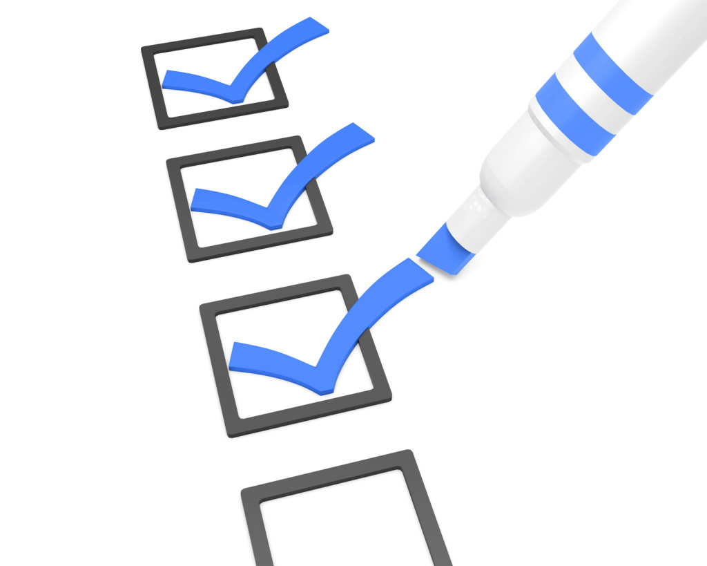 Image of some checkboxes being checked