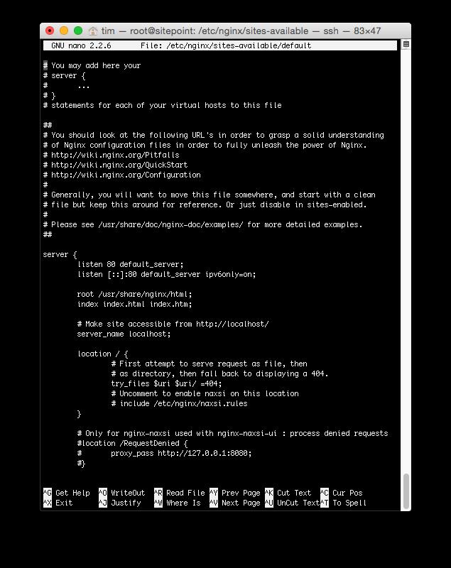 Configuring nginx