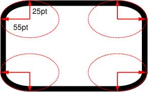Multiple Radii on each corner with border-radius