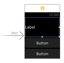 Add label and buttons