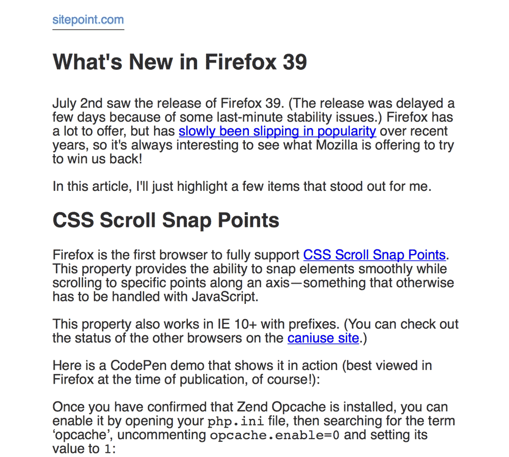 Firefox Reader View