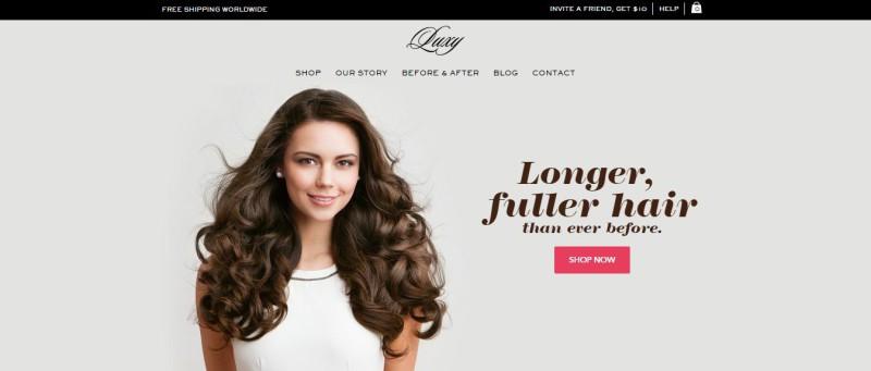 Website: Longer fuller hair.