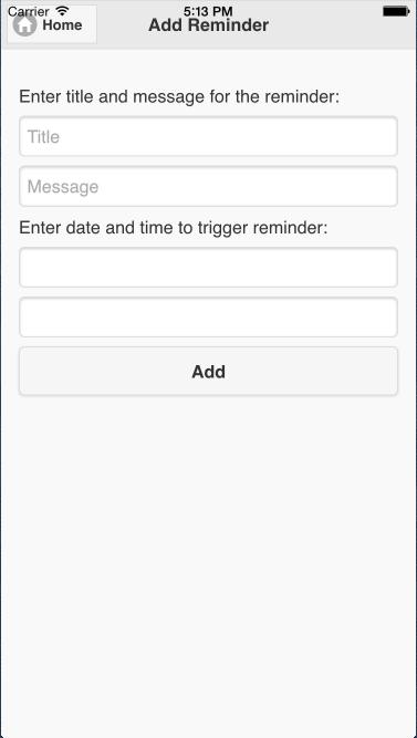Creating a reminder